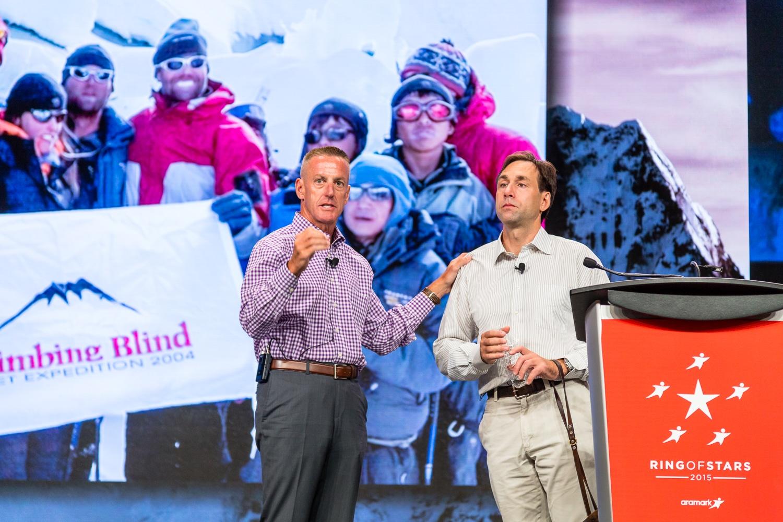 Erik Weihenmayer and Aramark CEO Eric Foss-Corporate Event Photography