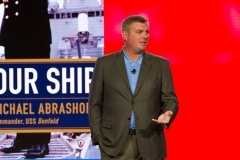 Mike Abrashoff speaking at Aramark Leadership Summit-Corporate Event Photography