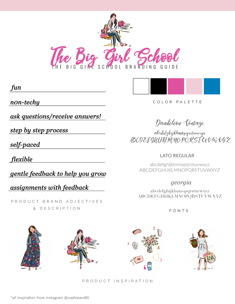 the big girl school branding guide