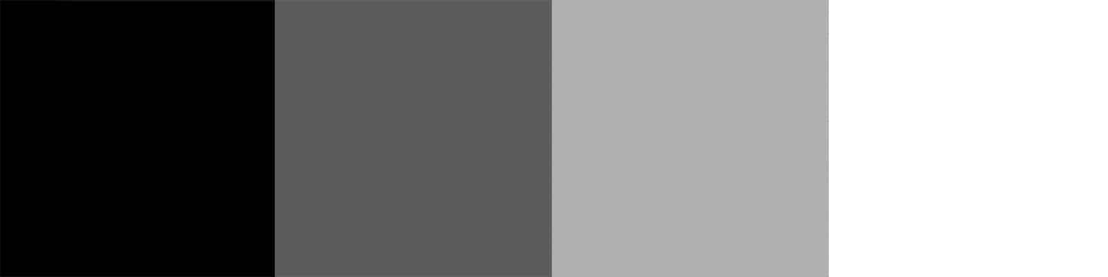 black, dark gray, light gray, and white background color chips